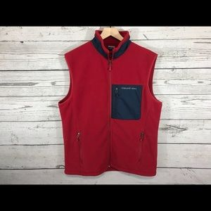 Vineyard Vines Red Fleece Vest Size Medium NWT